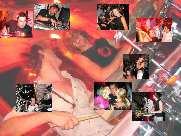 FlirtyFlirty @ Dragonbar - 04/29/04 -  w/ Michael Anthony, accompanied by members of the Late Night Sneaky band (J Bowman on guitar, B. Smiley on bass and DrumFire on percussion). Also, with Percussion SF -- Mike Giannini and Sunil Kapadia [click here to see clubbing pictures from this night]