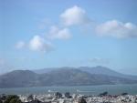 Ships near Golden Gate bridge