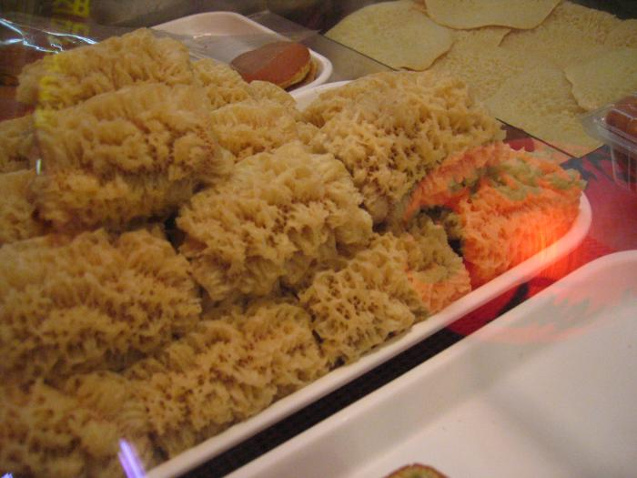 sponge like pastery