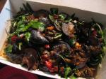 snails with basil and chilis