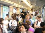 crackheads meet working stiffs on the Mon morning train