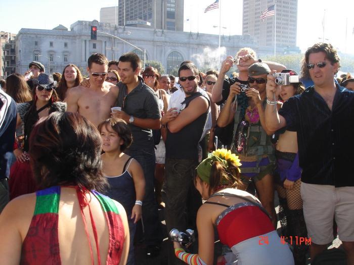 Everyone gathered around with their camera!