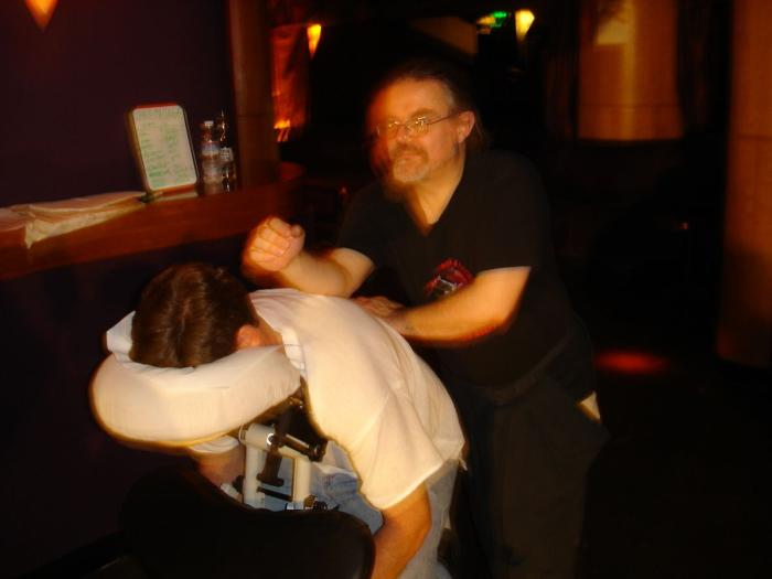 a well deserved massage by David