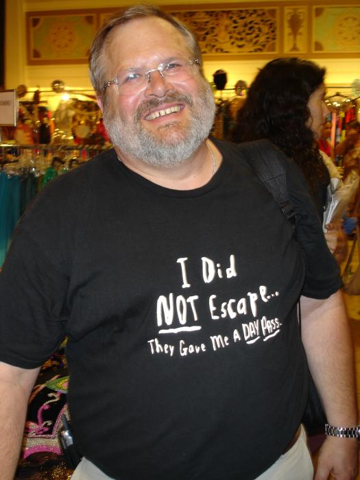 Read his t-shirt!