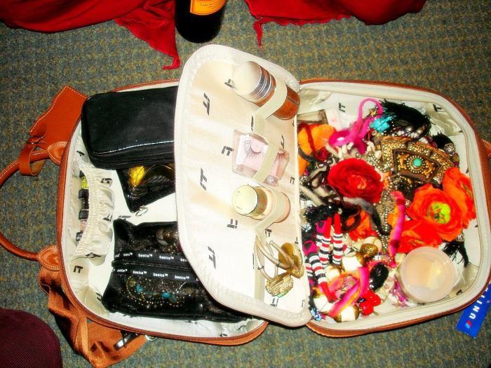 Rachel's make up bag