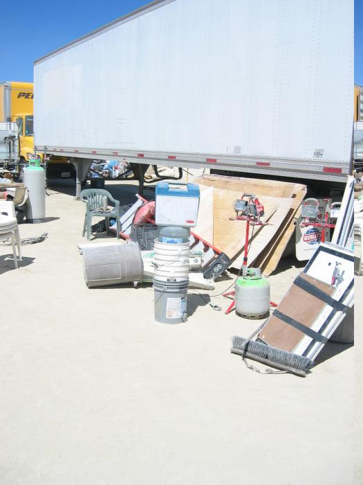 staging to load the trailer