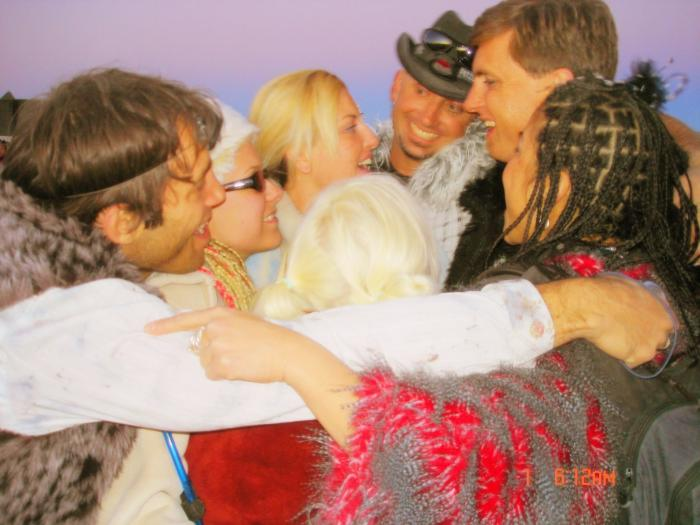 thats the beauty of Burning Man, all of the sudden, GROUP HUG!  Love you guys!