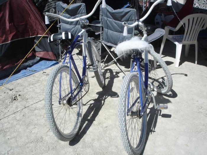 Bob & Vadim's matching bikes