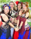 Members of EvilEye BellyDance--Stacey, Azza, Lori, Jena