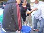 the guys gettin ready to DUMP the tub on Jayboy!