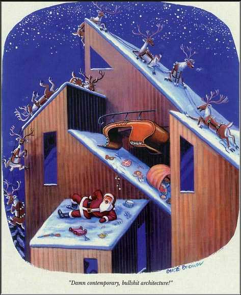 christmas santa - contemporary architecture
