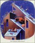 christmas santa - contemporary architecture
