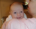 Keira's first smile (caught on camera)