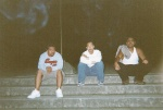Cesar, Eddy, Rick chillin out front of Eastridge Mall