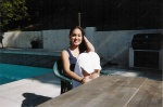 Fatima Chillin by the pool