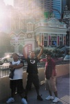 Big Ces, EJ, and Lil Ceas in front of NYNY