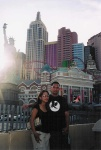 ej & eileen (cheryl) in front of NYNY