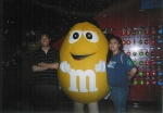 Eddy & Jes at the M&M Store