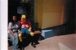 Jes posing w/ the Lego Man @ Downtown Disney