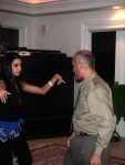 Arabic dance between father and daughter