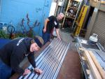 nathan & steve cutting panels - 081704