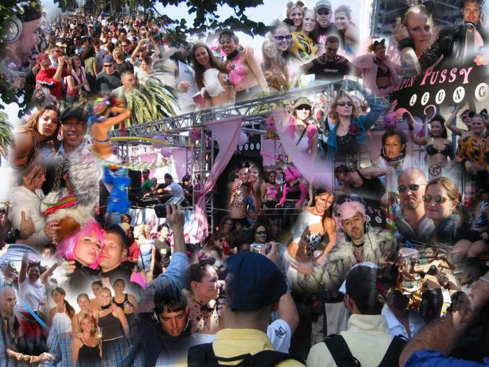 Thumpin P*ssy Love Parade Collage