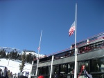Flags at half-mast due to the Nasa Colomnia explosion