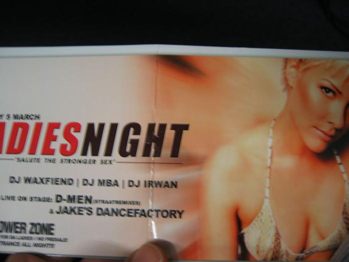 Britney Daniels, on a flyer in amsterdam - bet she doesn't know she was on that flyer either...
