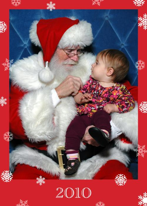 Evelina with Santa