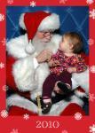 Evelina with Santa